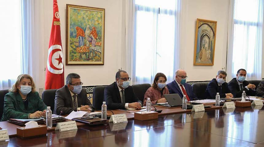 جلسة عمل في قصر الحكومة بالقصبة لتدارس برامج وملفات تنموية تخص ولاية مدنين
