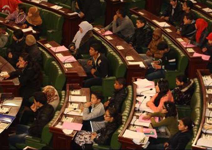 اختيار خمسة أطفال لتمثيل ولاية سيدي بوزيد في برلمان الطفل