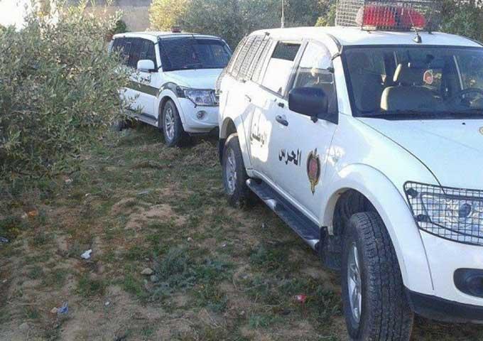 إصابة عوني أمن في انزلاق سيارة تابعة لدورية مرورية على مستوى منطقة المبطوح من معتمدية اوتيك