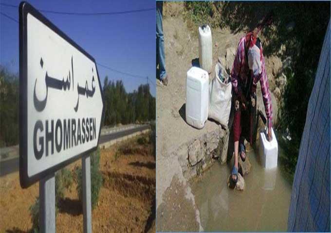 """تفجر """"عيون"""" مياه ببلدية غمراسن يزعج المتساكنين"""