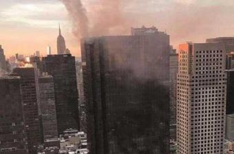 مصرع شخص واحد وإصابة ستة آخرين جراء حريق في برج ترامب بنيويورك