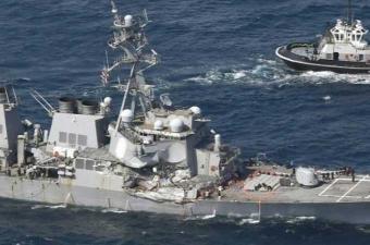 البحرية الأمريكية تنتشل جميع جثث البحارة المفقودين بعد حادث تصادم