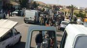 جموع غفيرة من شباب تطاوين يتوجهون الى احدى بوابات الصحراء للاعتصام فيها وللضغط على الحكومة