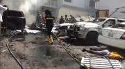 سيارة ملغومة تصدم بوابة فندق في العاصمة الصومالية