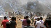استشهاد عشرات الفلسطينيين بغزة على يد قوات الاحتلال الاسرائيلي مع افتتاح سفارة الولايات المتحدة بالقدس