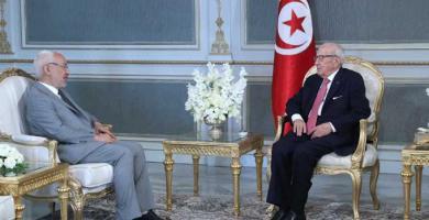 رئيس الجمهورية يلتقي رئيس حركة النهضة